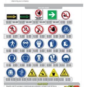 Znaki podłogowe BHP