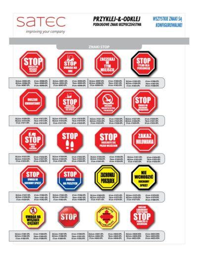 Przykładowe Znaki Przemysłowe BHP STOP