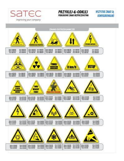 Znaki Przemysłowe BHP samoprzylepne