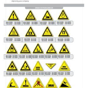 Znaki BHP samoprzylepne