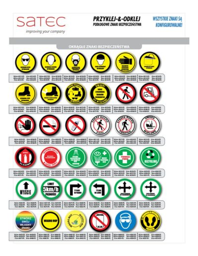 Znaki Przemysłowe bhp samoprzylepne na podłogę