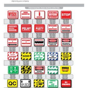 Znaki Przemysłowe podłogowe, samoprzylepne