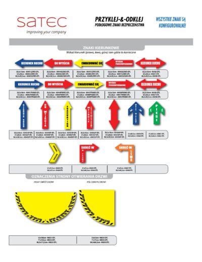 znaki kierunkowe samoprzylepne na posadzkę
