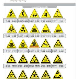 znaki ostrzegawcze samoprzylepne na podłogę