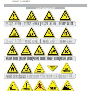 znaki ostrzegawcze samoprzylepne