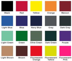 Kolory taśm - Kasety z taśmą odgradzające