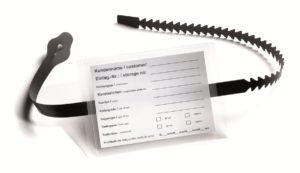 opaska z kieszonką na etykiety