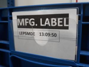 Kieszeń na etykiety do pojemników KLT, bez wcięcia, kieszeń magazynowa, oznakowanie klt, oznaczenia do pojemników klt