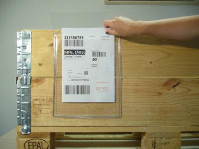 kieszenie magazynowe z drutem - zawieszki magazynowe na dokumenty i etykiety