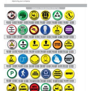 Znaki Przemysłowe samoprzylepne bhp