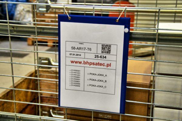 podkładki na dokumenty - zawieszki magazynowe