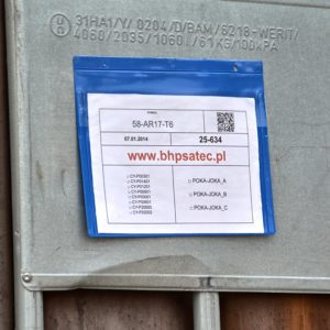 kieszeń magazynowa z paskiem - zawieszki magazynowe na dokumenty