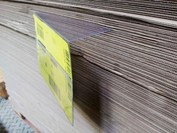 kieszen magazynowa wsuwana, zawieszka magazynowa wsuwana, etykieta wsuwana