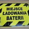 znak podłogowy na powierzchnie przemysłowe, znak ładowanie baterii