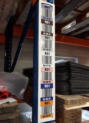 etykiety regałowe, etykiety na regały
