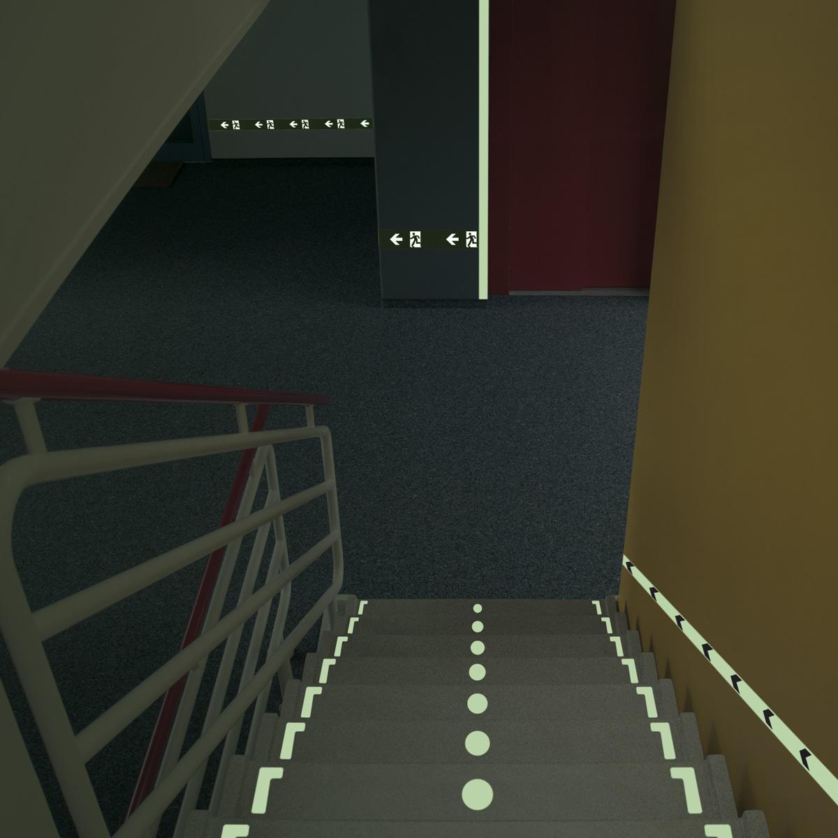 Taśmy Fotoluminescencyjne na schody