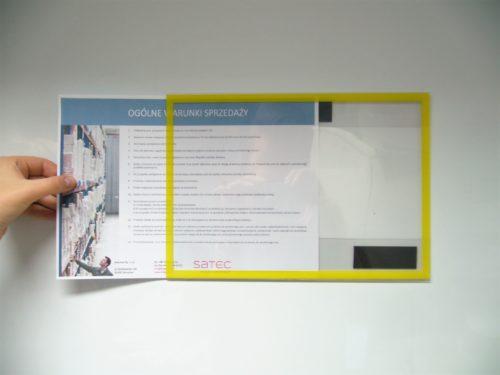 TABLICE INFORMACYJNE magnetyczne, ramki na dokumenty