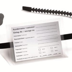 opaski zaciskowe z kieszonką na etykiety