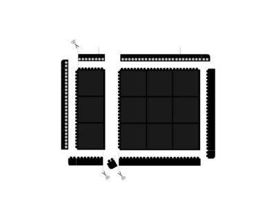 sposoby łączenia przemysłowej maty modułowej