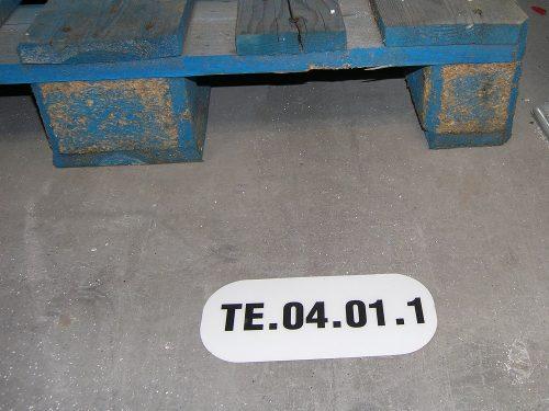 Etykieta podłogowa