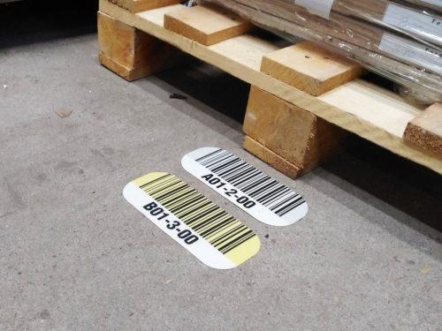 etykiety podłogowe, etykiety podłogowe lokalizacyjne, etykiety na podłogę, etykiety magazynowe podłogowe