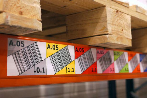 etykiety regałowe magnetyczne, oznakowanie regałów, oznaczenia magazynowe
