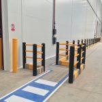 bezpieczeństwo pieszych, elastyczna bariera ruchu pieszego, zabezpieczenie ciągów komunikacyjnych, bariery ochronne przemysłowe,
