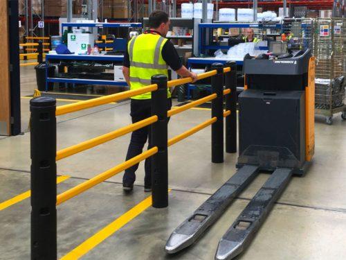 elastyczna barierka ochronna, barierka ochronna, barierka przemysłowa