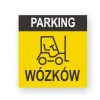 parking wózków tabliczka pvc, tabliczki magazynowe, tabliczka wozki widlowe