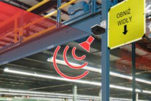 elektroniczne urządzenia ochronne, systemy ostrzegania przed kolizjami, kolizje magazynowe