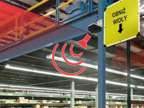 systemy wykrywania wózków widłowych, bezpieczeństwo magazynowe, ochrona