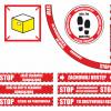 tabliczki informacyjne koronawirus, znaki informacyjne koronawirus, tabliczki magazynowe uwaga koronawirus, oznaczenia dla kurierów