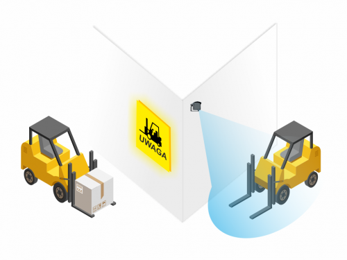 system antykolizyjny smart, system ostrzegawczy smart, system ostrzegawczy wózków widłowych