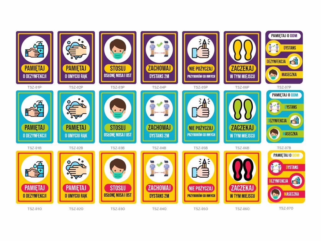 tabliczki koronawirus szkoła, tabliczki covid szkoła, plakaty covid do przedszkola