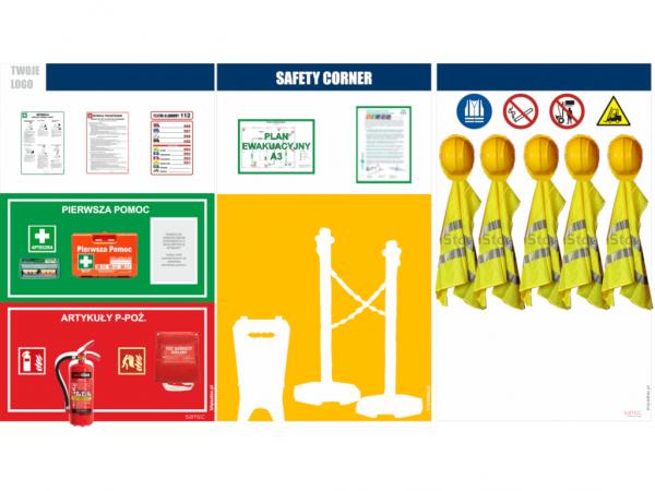 tablica bhp, tablica kącik bezpieczeństwa, tablica bezpieczeństwa, tablica bhp przemysłowa