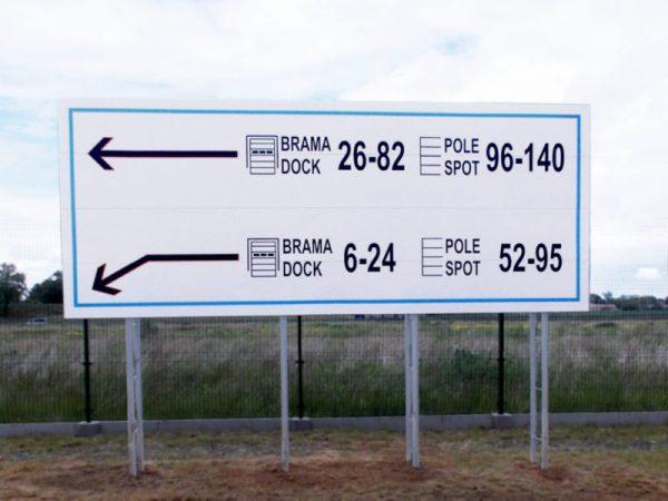 tablice informacyjne wielkoformatowe, tablice informacyjne magazynowe billboardy