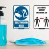 tabliczki informacyjne koronawirus, tabliczki koronawirus, tabliczki covid, tabliczki coronavirus, oznaczenia higieniczne koronawirus, tabliczki koronawirus na zamówienie