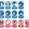 tabliczki koronawirus, tabliczki covid, tabliczki ostrzegawcze covid, znaki koronawirus, oznaczenia koronawirus, tablice uwaga koronawirus
