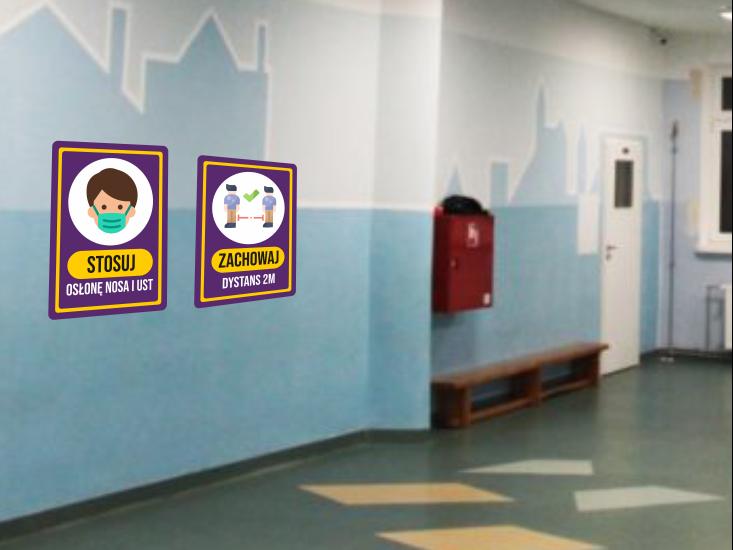 tabliczki szkolne covid
