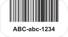 etykieta z kodem kreskowym i alfanumerycznym